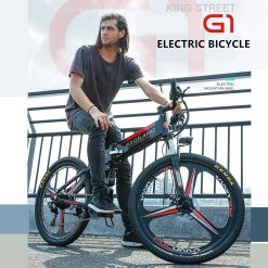 X-front 48V 350W 10 12.8A Lithium Battery Mountain Electric Bike 27 Speed moto Electric Bicycle downhill 26 inch Foldable ebike 1